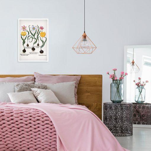 Plakat z motywem tulipanów do sypialni