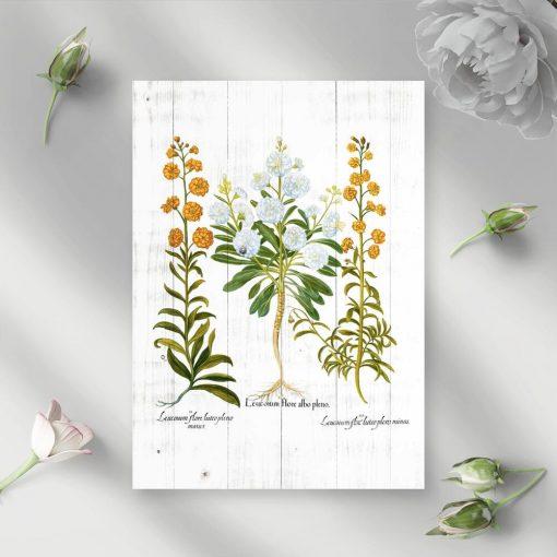 Plakat z pomarańczowymi goździkami do sypialni