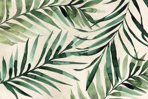 Foto-tapeta palmowe liście do dekoracji sypialni