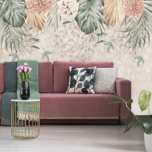 Foto-tapeta w pastelowe kwiaty do pokoju