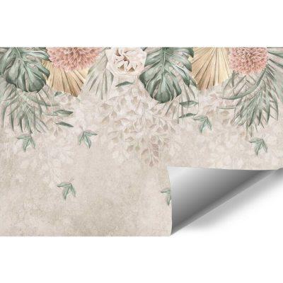 Foto-tapeta w pastelowe kwiaty do przedpokoju