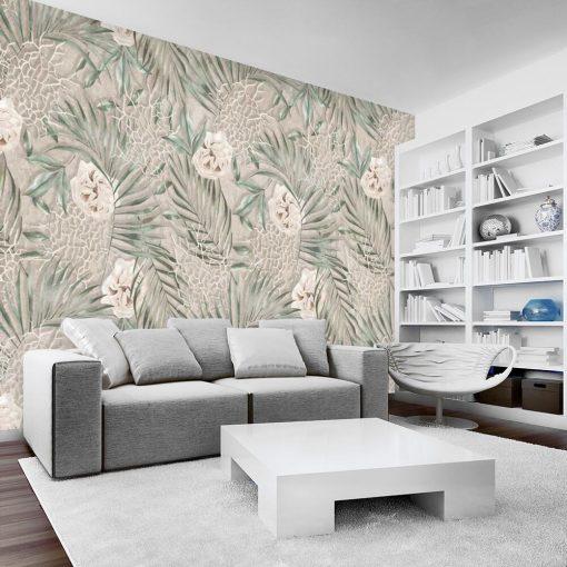 Foto-tapeta z prowansalskim deseniem do salonu
