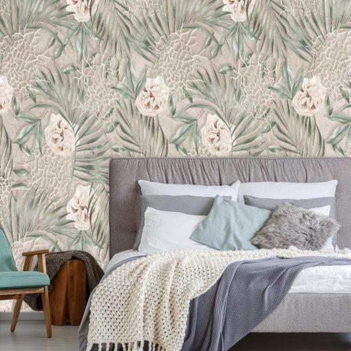 Foto-tapeta z prowansalskim deseniem do sypialni