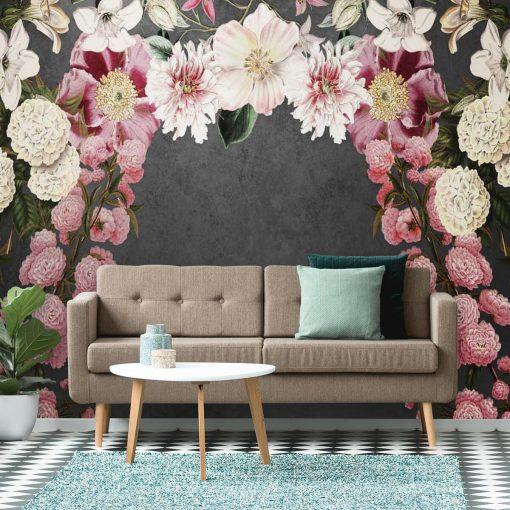 Foto-tapety z kwiatami w tonacji różu