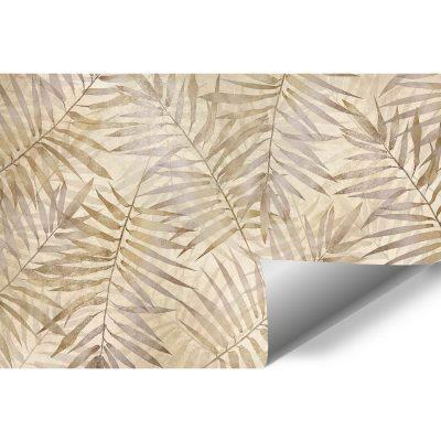 Fototapeta boho w palmowe liście do przedpokoju