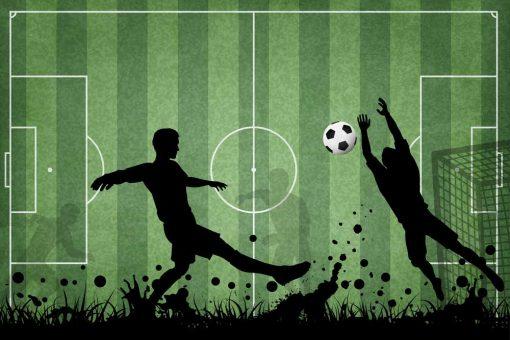 fototapeta dla miłośnika piłki nożnej - Rozgrywka footballu