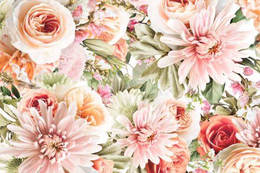Fototapeta kwiaty ogrodowe do dekoracji sypialni