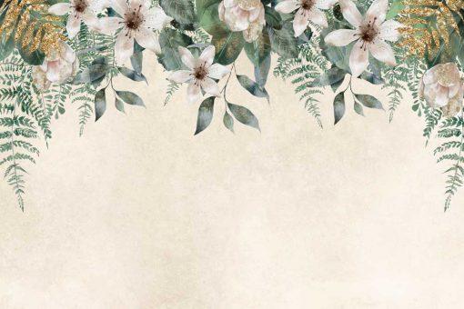 Fototapeta z kompozycją jasnych kwiatów