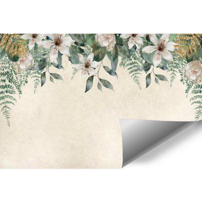 Fototapeta z kompozycją jasnych kwiatów do gabinetu