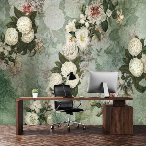 Fototapeta z kwiatową kompozycją do biura