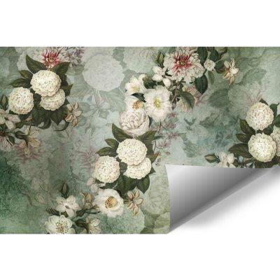 Fototapeta z kwiatową kompozycją do kawiarni