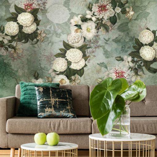 Fototapeta z kwiatową kompozycją do salonu