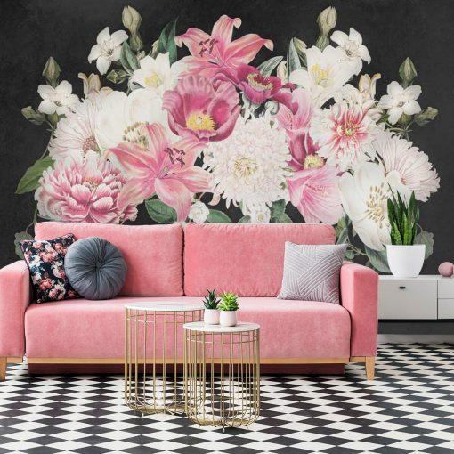 Fototapeta z liliami i piwoniami