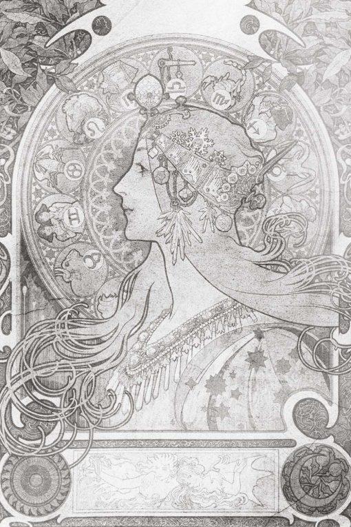 Fototapeta z reprodukcją - Zodiak