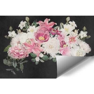Kwiaty na tapecie - stroik