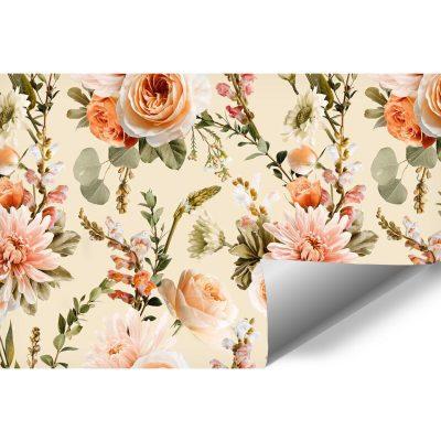 Kwiecista foto-tapeta z różami do pokoju