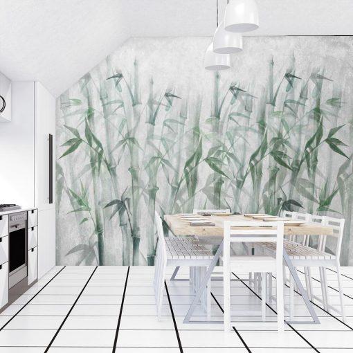 Orientalna fototapeta - Bambusy do kuchni
