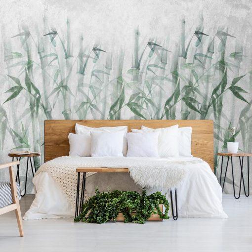 Orientalna fototapeta - Bambusy do sypialni