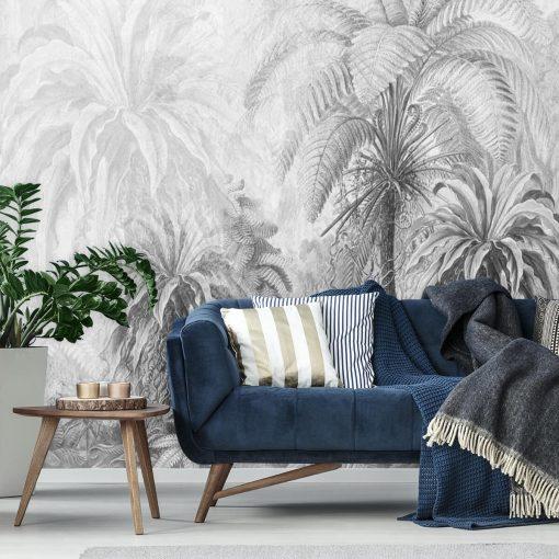 Orientalna fototapeta z palmami do sypialni