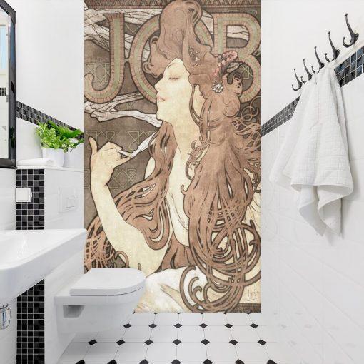 Secesyjna fototapeta - Job do łazienki