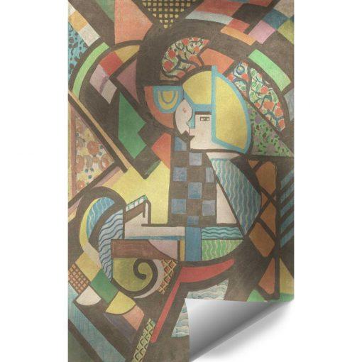 Tapeta abstrakcyjna - Córka w kołysce
