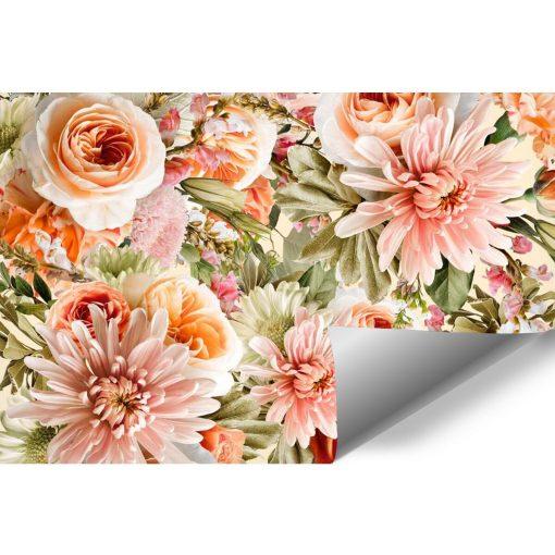 Tapeta w pomarańczowe róże do sypialni