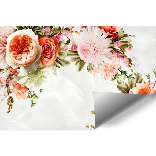 Tapeta z kwiatami do ozdoby salonu
