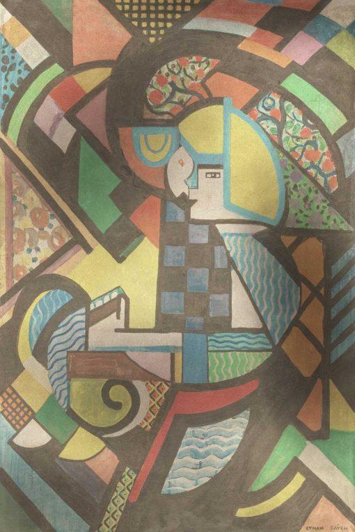 Tapeta z obrazem Córka w kołysce - abstrakcja
