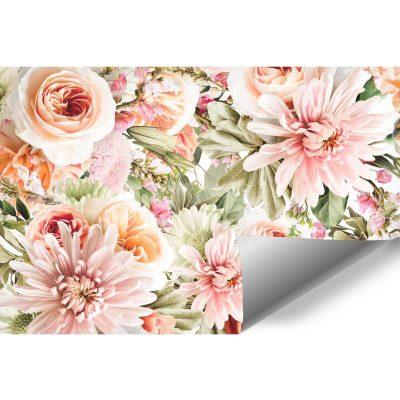 Tapety z kwiatami do ozdoby salonu
