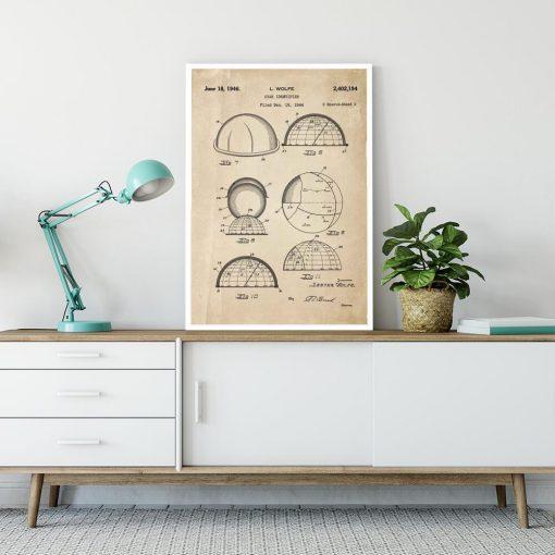 Plakat astronomiczny - Patent na identyfikator gwiazd do salonu