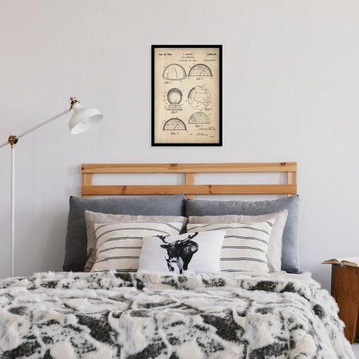 Plakat astronomiczny - Patent na identyfikator gwiazd do sypialni