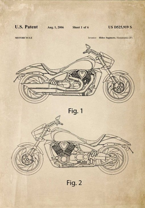 Plakat japoński wynalazek z 2006r.- motoryzacja