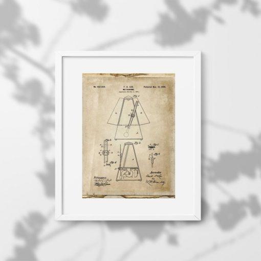 Plakat metronom - wynalazek z 1899r.