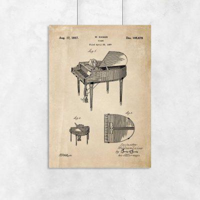 Plakat - Patent na fortepian dla muzyka