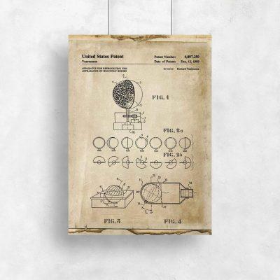 Plakat patent na urządzenie pokazujące Wszechświat