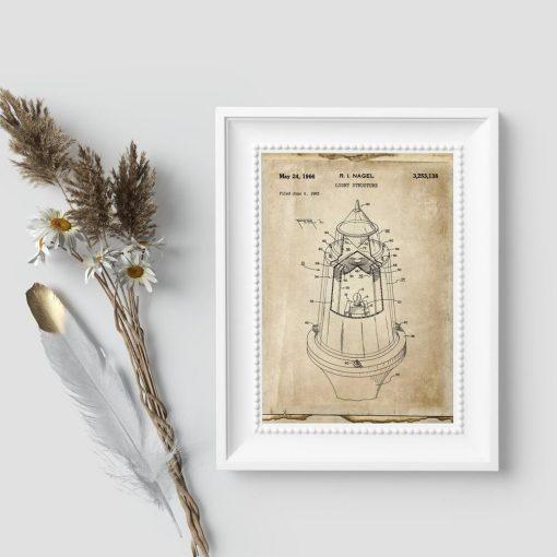 Plakat patent z 1963r. na źródło światła