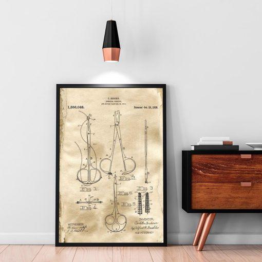 Plakat patentowy - Kleszcze chirurgiczne dla ucznia