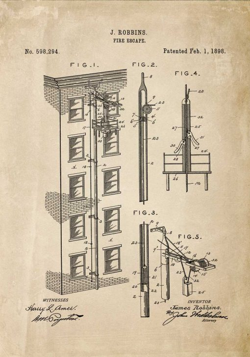 Plakat projekt i zgoda na budowę wyjścia pożarowego