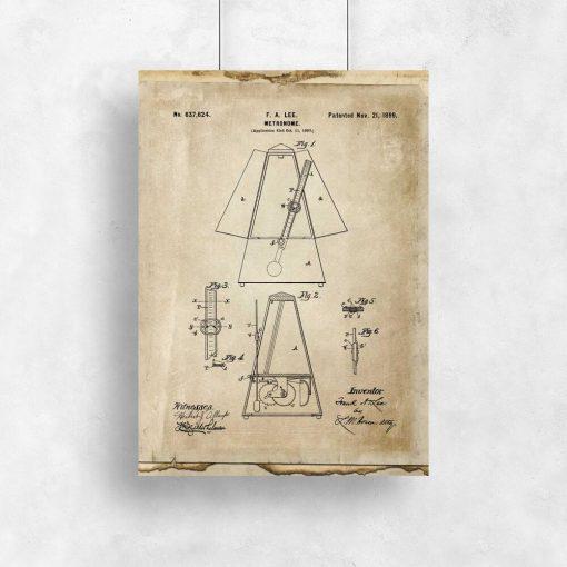 Plakat schemat budowy metronomu