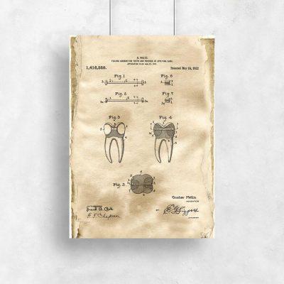 Plakat vintage z patentem