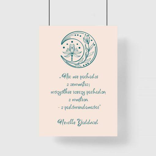 Plakat z cytatem Neville Goddard o podświadomości
