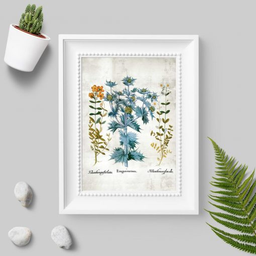 Plakat z drobnymi kwiatuszkami
