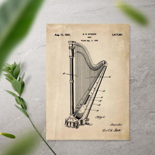Plakat z instrumentem muzycznym