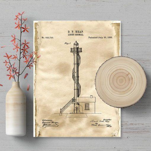 Plakat z koncepcja budowy latarni morskiej