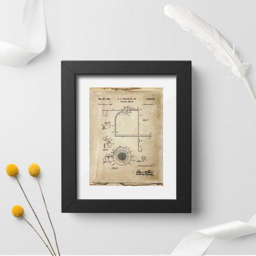 Plakat z motywem kołowrotka - wynalazek z 1951r.