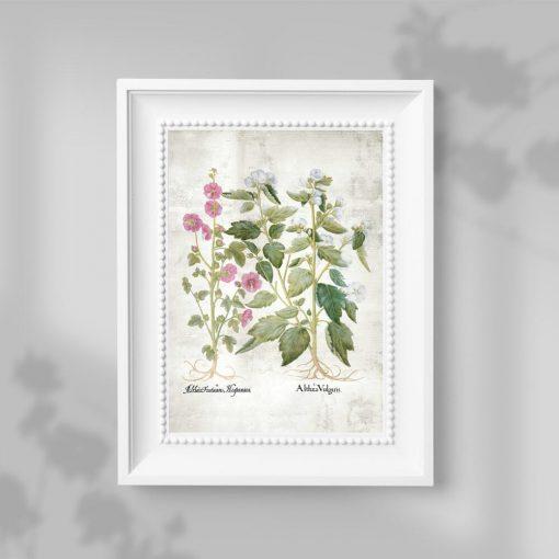 Plakat z motywem pastelowych kwiatuszków - pomoc edukacyjna
