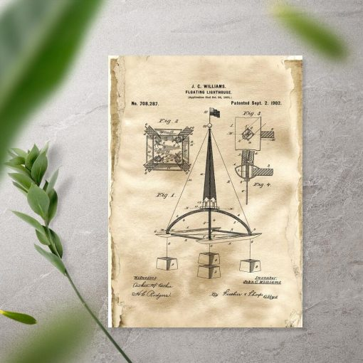 Plakat z patentem na bojkę morską
