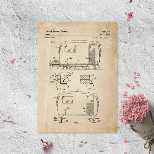 Plakat z patentem na przyczepę do pokoju