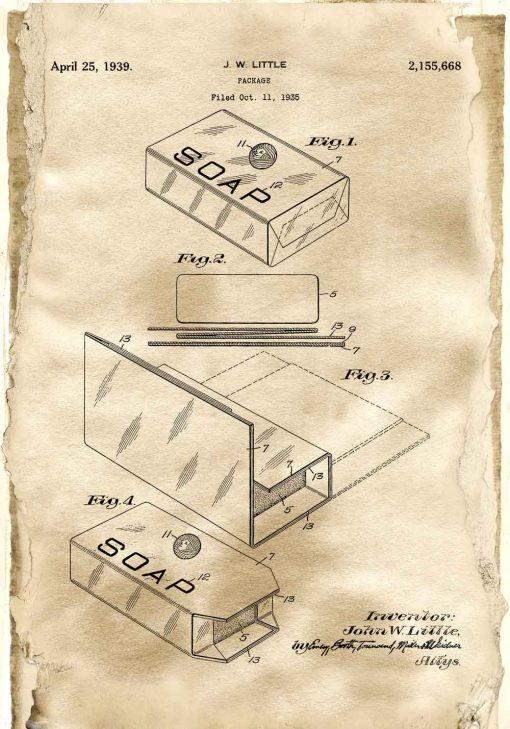 Plakat z patentem na pudełko
