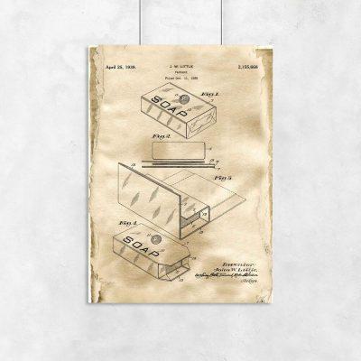 Plakat z patentem na pudełko do łazienki